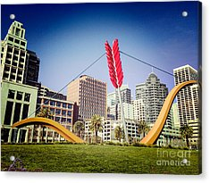 San Francisco Cupid's Span Acrylic Print by Colin and Linda McKie