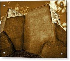 Acrylic Print featuring the photograph San Francisco De Asis Mission Church Taos II by John Hansen