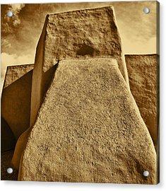 Acrylic Print featuring the photograph San Francisco De Asis Mission Church Taos by John Hansen