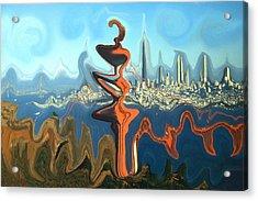 San Francisco Earthquake - Modern Art Acrylic Print by Art America Gallery Peter Potter