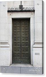 San Francisco Emporio Armani Store Doors - 5d20538 Acrylic Print by Wingsdomain Art and Photography