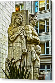 San Francisco - Financial District Statue - 02 Acrylic Print by Gregory Dyer