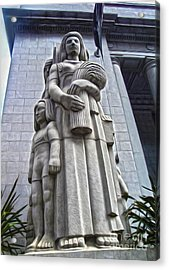 San Francisco - Financial District Statue - 03 Acrylic Print by Gregory Dyer