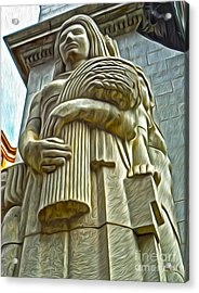 San Francisco - Financial District Statue - 04 Acrylic Print by Gregory Dyer