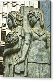 San Francisco - Financial District Statue - 05 Acrylic Print by Gregory Dyer