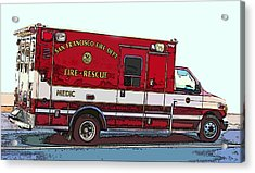 San Francisco Fire Dept. Medic Vehicle Acrylic Print