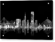 San Francisco Fog Acrylic Print by Daniel Hagerman