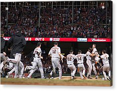 San Francisco Giants V Texas Rangers, Game 5 Acrylic Print by Rob Tringali