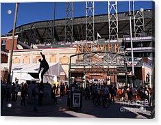 San Francisco Giants World Series Baseball At Att Park Dsc1899 Acrylic Print by Wingsdomain Art and Photography