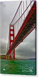 San Francisco - Golden Gate Bridge - 02 Acrylic Print by Gregory Dyer