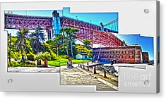 San Francisco - Golden Gate Bridge - 09 Acrylic Print by Gregory Dyer