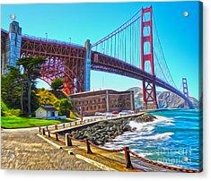 San Francisco - Golden Gate Bridge - 11 Acrylic Print by Gregory Dyer