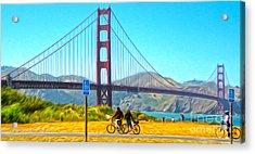 San Francisco - Golden Gate Bridge - 13 Acrylic Print by Gregory Dyer