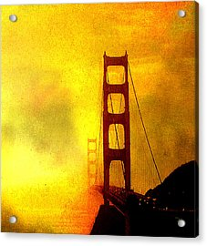 San Francisco Golden Gate Bridge Commute In Sun And Fog Acrylic Print