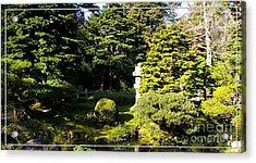 San Francisco Golden Gate Park Japanese Tea Garden 1 Acrylic Print by Robert Santuci