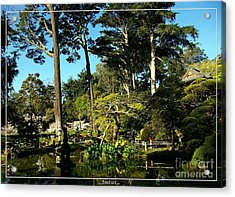 San Francisco Golden Gate Park Japanese Tea Garden 11 Acrylic Print by Robert Santuci