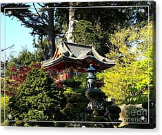 San Francisco Golden Gate Park Japanese Tea Garden 5 Acrylic Print by Robert Santuci
