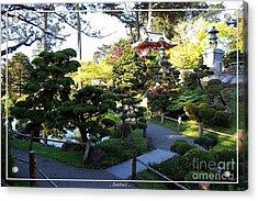 San Francisco Golden Gate Park Japanese Tea Garden 6 Acrylic Print by Robert Santuci