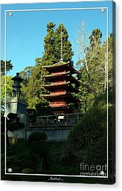 San Francisco Golden Gate Park Japanese Tea Garden 8 Acrylic Print by Robert Santuci