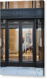 San Francisco Graff Store Doors - 5d20569 Acrylic Print by Wingsdomain Art and Photography
