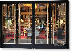 San Francisco Gumps Store Doors - 5d20585 Acrylic Print by Wingsdomain Art and Photography