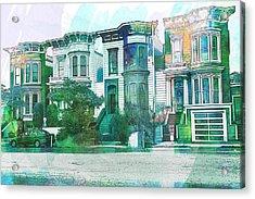 San Francisco Homes Acrylic Print by Garry Gay