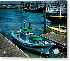 San Francisco - Hyde Street Pier - The Wetton Acrylic Print by Lance Vaughn