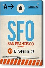 San Francisco Luggage Tag Poster 1 Acrylic Print