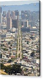 San Francisco - Market Street - Castro To Embarcadero Acrylic Print by Daniel Furon