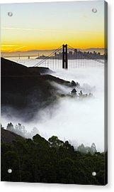 San Francisco Morning Fog Acrylic Print