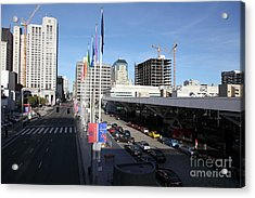 San Francisco Moscone Center And Skyline - 5d20511 Acrylic Print by Wingsdomain Art and Photography