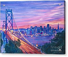 San Francisco Nights Acrylic Print