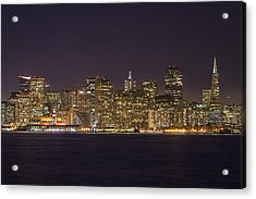 San Francisco Nighttime Skyline 1 Acrylic Print