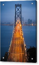 San Francisco - Oakland Bay Bridge Acrylic Print by Adam Romanowicz