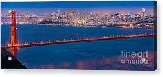San Francisco Panorama Acrylic Print by Inge Johnsson