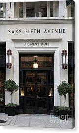 San Francisco Saks Fifth Avenue Store Doors - 5d20574 Acrylic Print