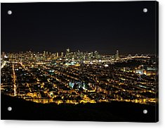 Acrylic Print featuring the photograph San Francisco Skyline by Dave Files