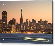San Francisco Skyline Late Evening Acrylic Print