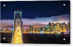 San Francisco Skyline Panorama And Acrylic Print by Dszc