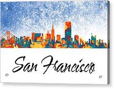 San Francisco Skyline  Acrylic Print by Special Tees