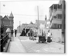 San Francisco Street Cooking Acrylic Print by Library Of Congress