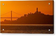 San Francisco Sunrise Acrylic Print by Alexis Birkill