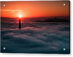Acrylic Print featuring the photograph San Francisco Sunrise by Brian Bonham