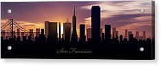 San Francisco Sunset Acrylic Print by Aged Pixel