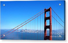 San Francisco - The City With The Golden Gate Acrylic Print