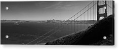 San Francisco Through The Golden Gate Bridge Acrylic Print by Twenty Two North Photography