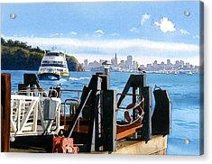 San Francisco Tiburon Ferry Acrylic Print by Mary Helmreich