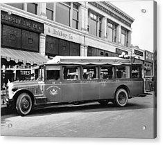 San Francisco To Portland Bus Acrylic Print by Keystone Photo Service