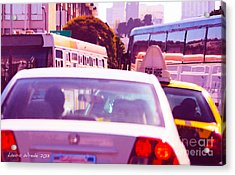 San Francisco Traffic Jam Acrylic Print by Artist and Photographer Laura Wrede