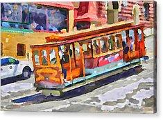 San Francisco Trams 5 Acrylic Print by Yury Malkov